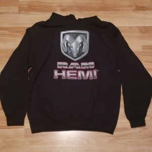 Black Dodge Ram Hooded sweatshirt